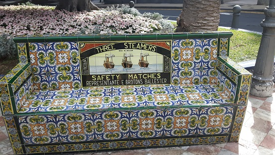 Texto del anuncio: THREE STEAMERS. SAFETY MATCHES. REPRESENTANTE E.BROTONS BALLESTER (Foto 2017)-Plaza de los Patos